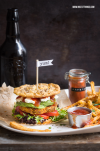 Low Carb Burger vegan Rezept