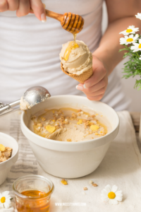 Kamillen Eiscreme mit Honig Rezept