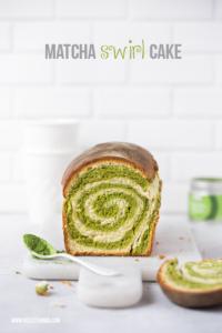 Matcha Swirl Cake  / Matcha Kuchen mit Wirbel, mit Thermomix Rezept