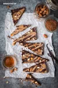 Vegane Schokolade selber machen Rezept mit Mandeln...