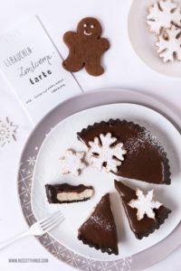 Lebkuchen Cheesecake Lebkuchen tarte mit Zimt und Schneeflocken