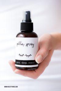DIY Kissen Spray Schlafspray selber machen Pillow Spray