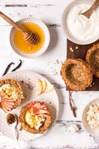 Granola Cups Müsli Cups Rezept mit Joghurt und Honig