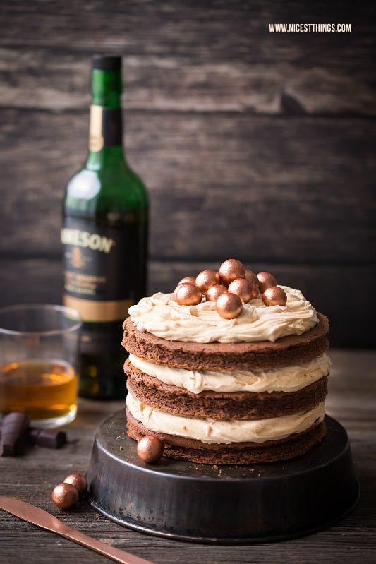 Whiskey Torte Mit Whisky Schokoladen Kuchen Und Karamell Creme