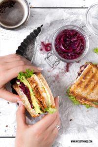 Vegane Pulled Jackfruit Sandwiches