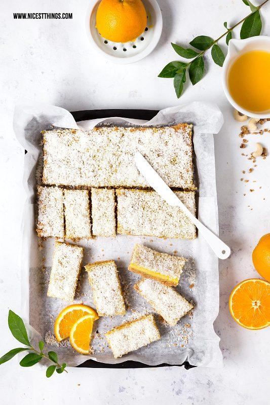 Orangen Müsli Schnitten Rezept