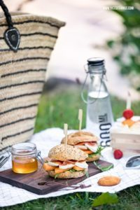 Picknick Rezept Burger Melone Schinken