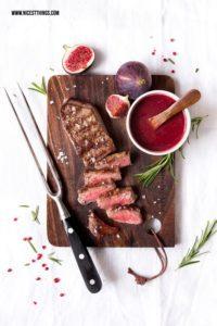 Rindersteak grillen Dry Aged Beef Rumpsteak