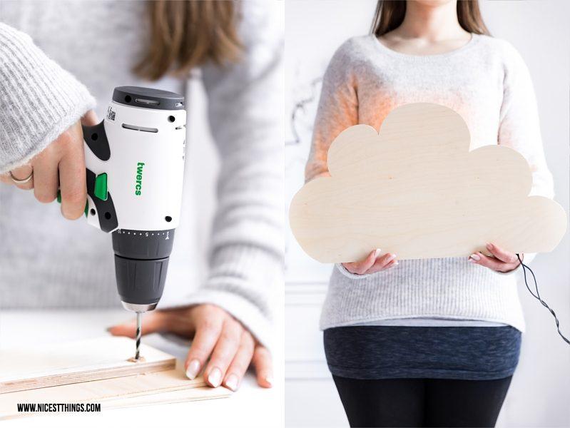DIY WOlkenlampe selber machen mit Vorwerk Twercs