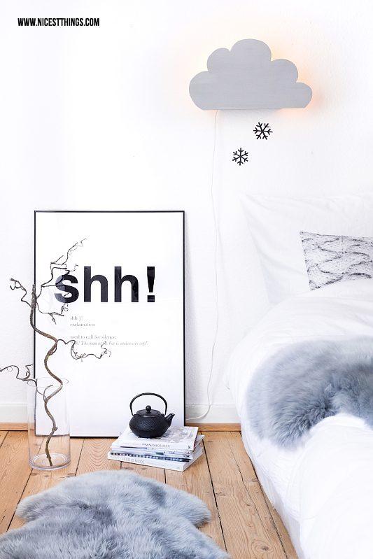DIY Wolkenlampe Wolkenleuchte Schlafzimmer selber machen mit Vorwerk Twercs