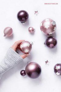 DIY Weihnachtskugeln mit Metallic Sprühfarbe: Stencil Stern & Ombre
