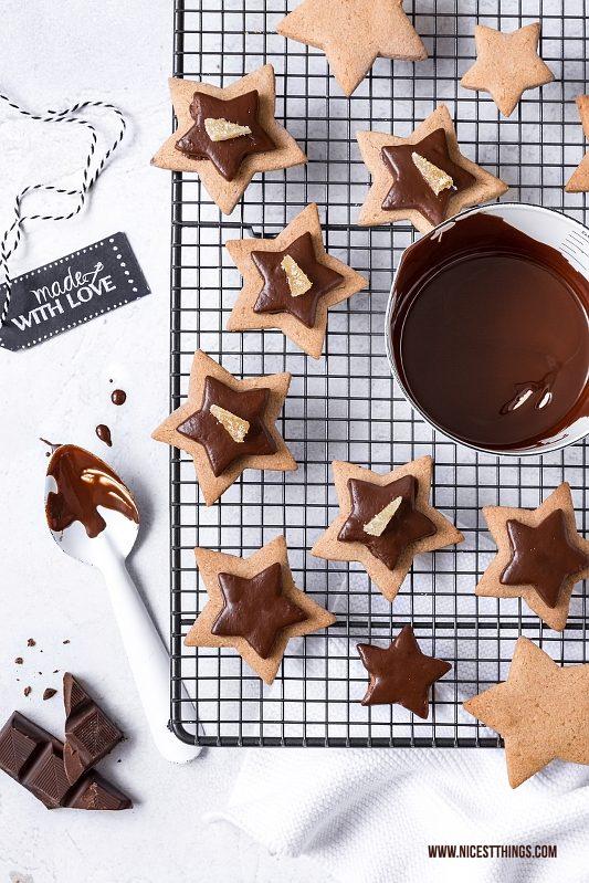 Glutenfreie Schoko Kekse Plätzchen Sterne
