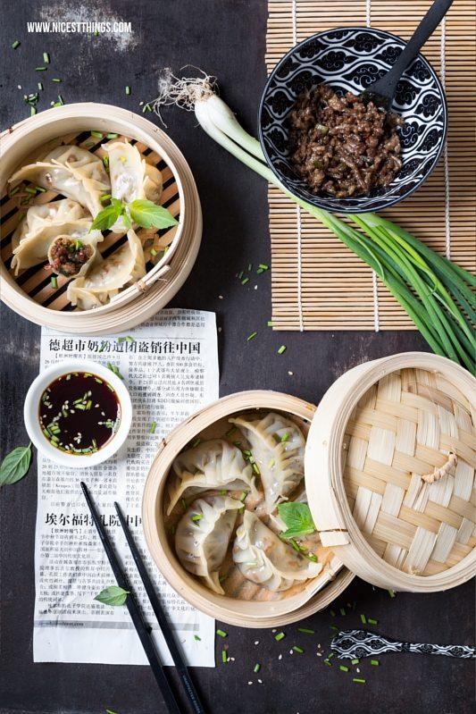 Gyoza, Jiaozi, Dim Sum, Dumplings: gedämpfte asiatische Teigtaschen