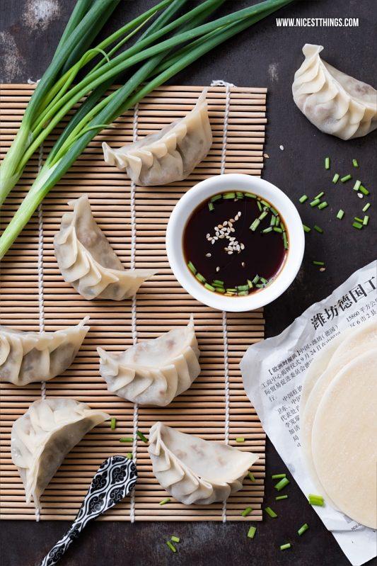 Gyoza, Jiaozi, Dim Sum, Dumplings Rezept mit Hackfleisch gedämpft