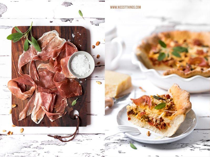 Prosciutto di San Daniele Quiche Rezept mit Grana Padano