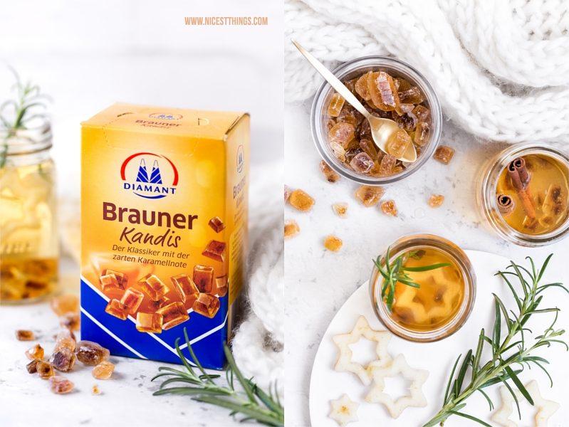 Diamant Brauner Kandis Punsch Rezept mit Birne, Amaretto und Tee