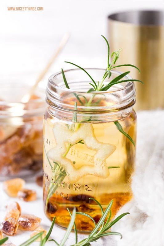 Punsch Rezept Birne mit Birnensaft, Amaretto, Tee, Kandis, Zimt