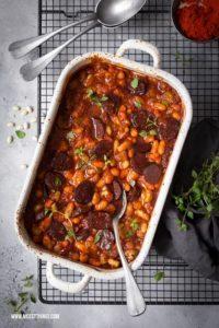 Cassoulet Rezept mit weissen Bohnen und Chorizo