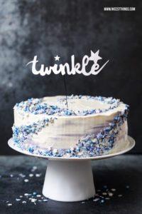 Galaxy Torte Rezept mit Mohn und weisser Schokolade