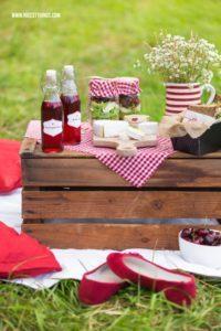 Picknick Rezepte Käse Sandwiches Kichererbsen Salat im Glas