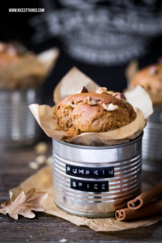 Pumpkin Spice Muffins mit Kürbis und Kichererbsen...