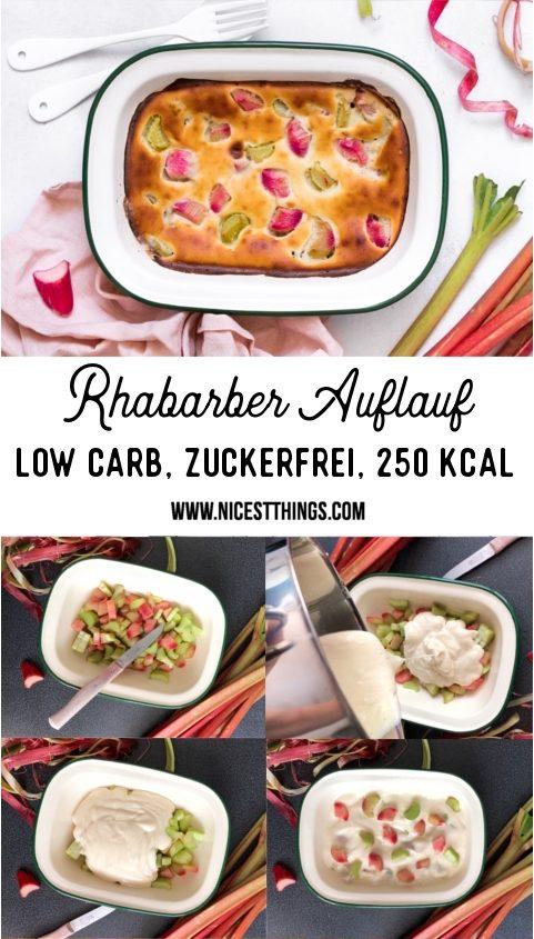 Rhabarber Auflauf low carb, kalorienarm, zuckerfrei