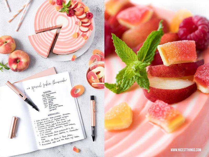 Lamy Rosegold Füller und Zebra Cheesecake Rezept