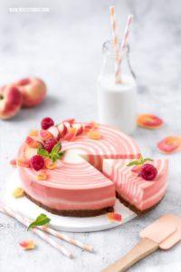 Zebra Cheesecake Rezept: Zebrakuchen mit Pfirsich ...