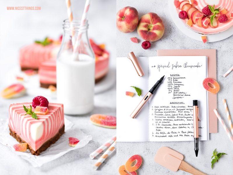 Füller Rosegold Lamy Lx und Pfirsich Cheesecake Rezept