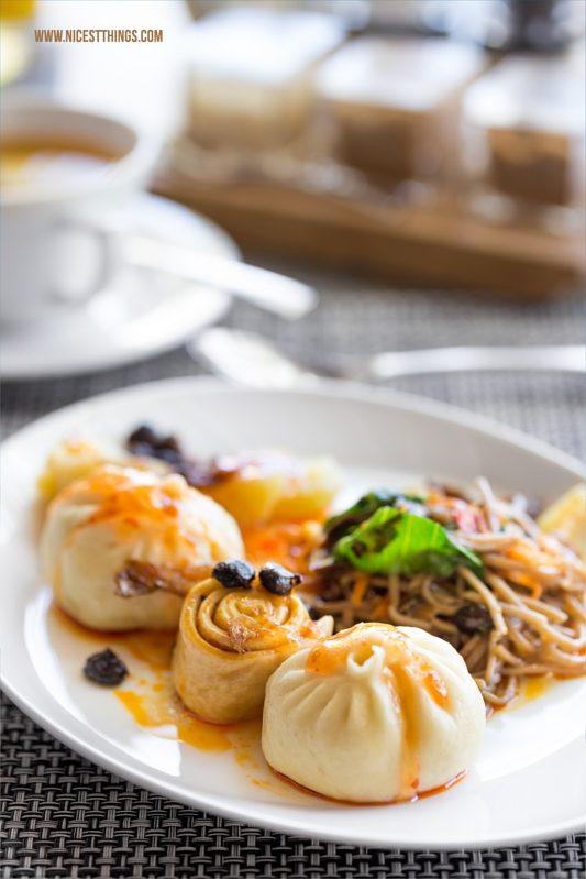 Dim Sum Dumplings LUX Belle Mare Frühstück