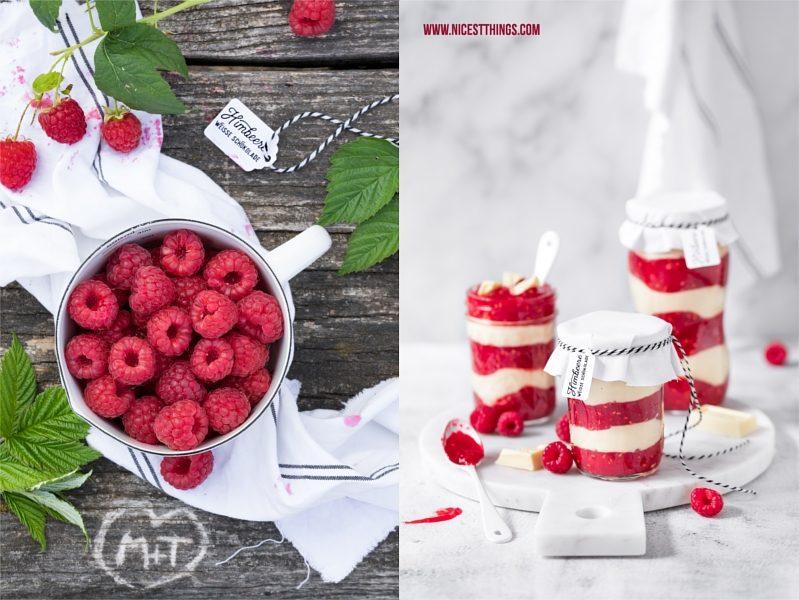 Himbeer weiße Schokolade Schichtmarmelade Fruchtaufstrich Rezept