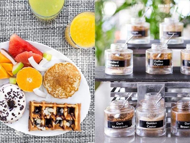 Frühstück Lux Belle Mare und Zucker Sorten