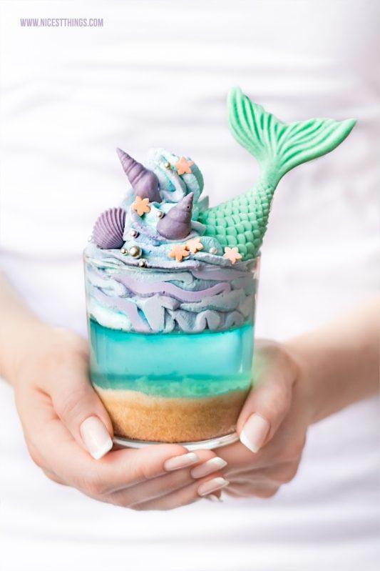 Meerjungfrauen Dessert Meerjungfrau Party Fondant Flossen Mermaid