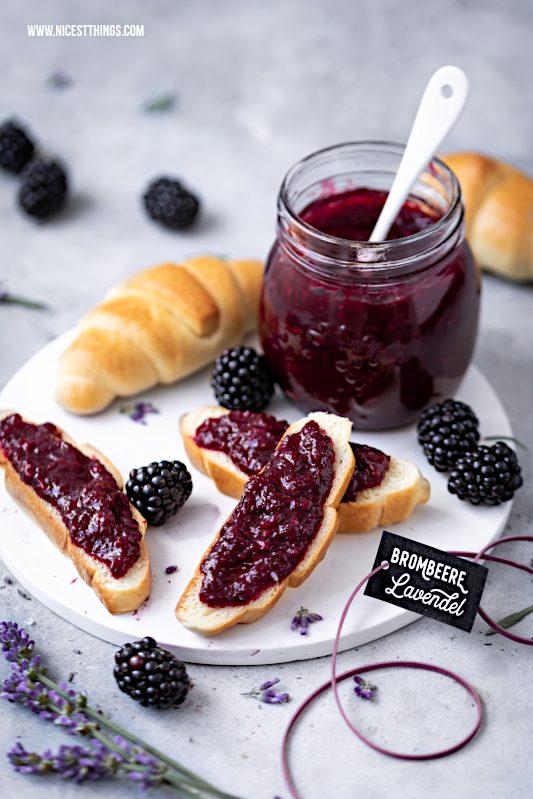 Brombeere Lavendel Marmelade Rezept Konfituere Lavendelblüten Geschenkidee #brombeeren #lavendel #marmelade
