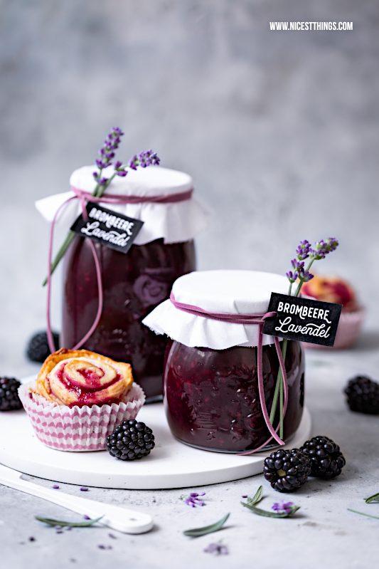 Brombeer Lavendel Marmelade Rezept Geschenkidee #brombeeren #lavendel #marmelade #geschenkidee