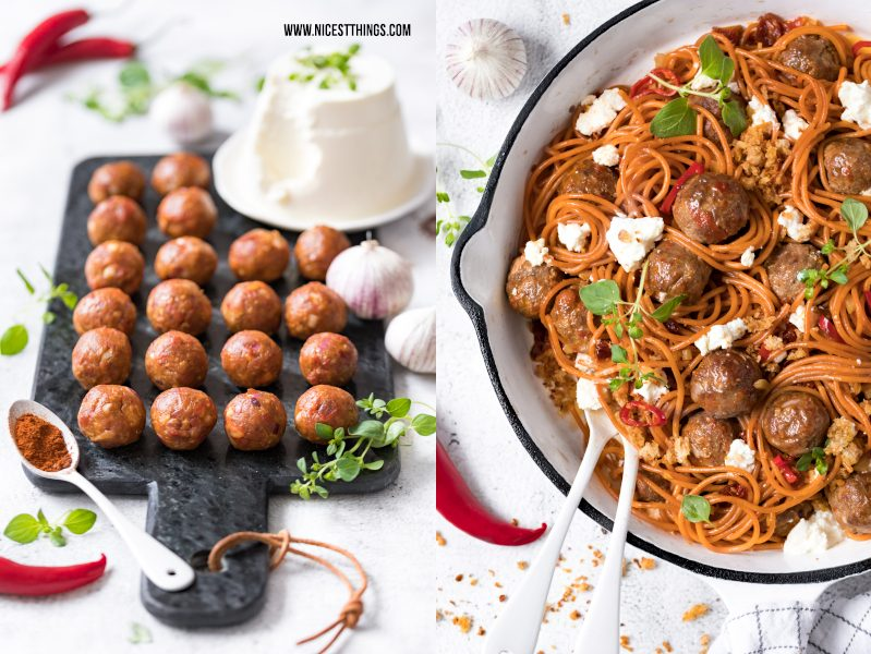 Chorizo Hackbaellchen Frikadellen Meatballs Rezept