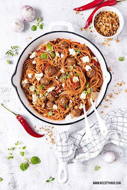 Chorizo Hackbaellchen Spaghetti Rezept, Chorizo Meatball Spaghetti #chorizo #meatball #spaghetti #pasta #hackbaellchen