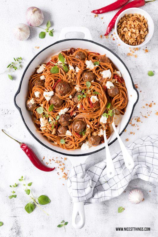Chorizo Hackbällchen Spaghetti Rezept