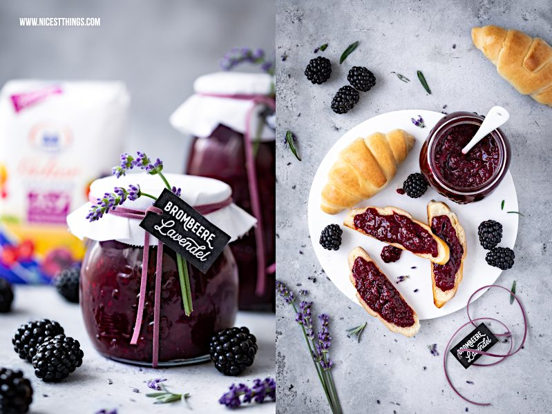 Diamant Gelierzauber 1:3 Rezept Brombeeren Lavendel Marmelade