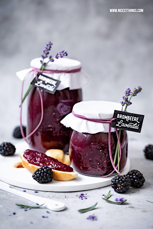 Brombeer Lavendel Marmelade Konfituere Rezept Geschenkidee #brombeeren #lavendel #geschenkidee #marmelade