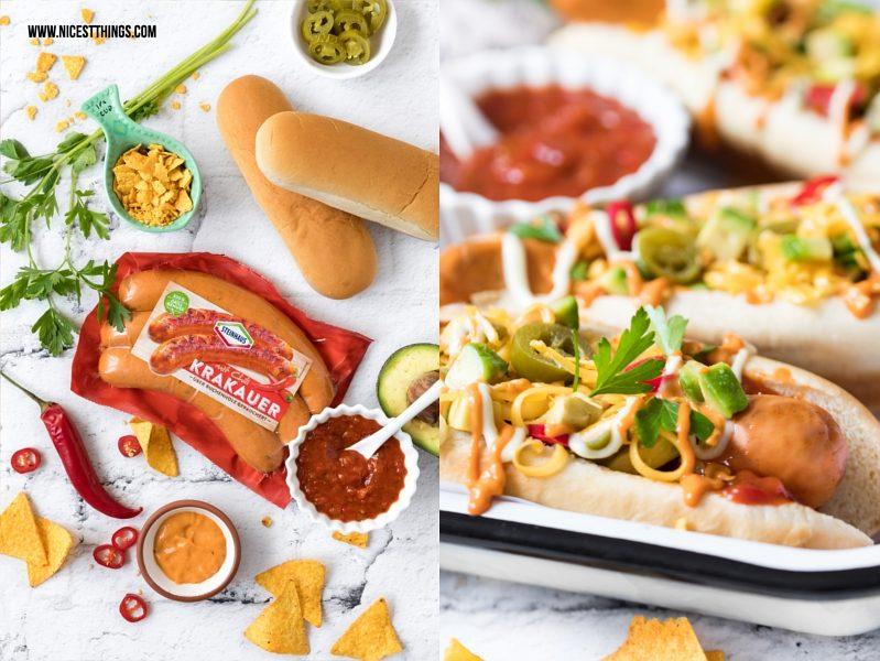 Steinhaus Krkauer mit Chilli Rezept Hot Dogs
