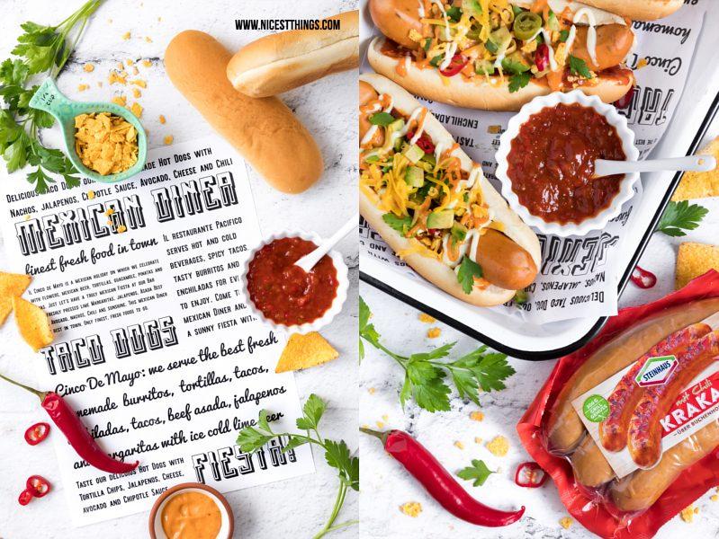 Mexiko Hot Dogs mexikanische Hotdogs Rezept mit Steinhaus Krakauer Chilli (Werbung)