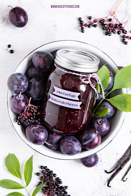 Holunder Marmelade Zwetschgen Marmelade Konfituere Rezept