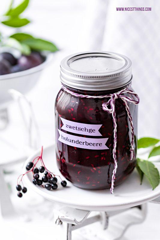 Zwetschgen Holunder Konfituere Marmelade Rezept