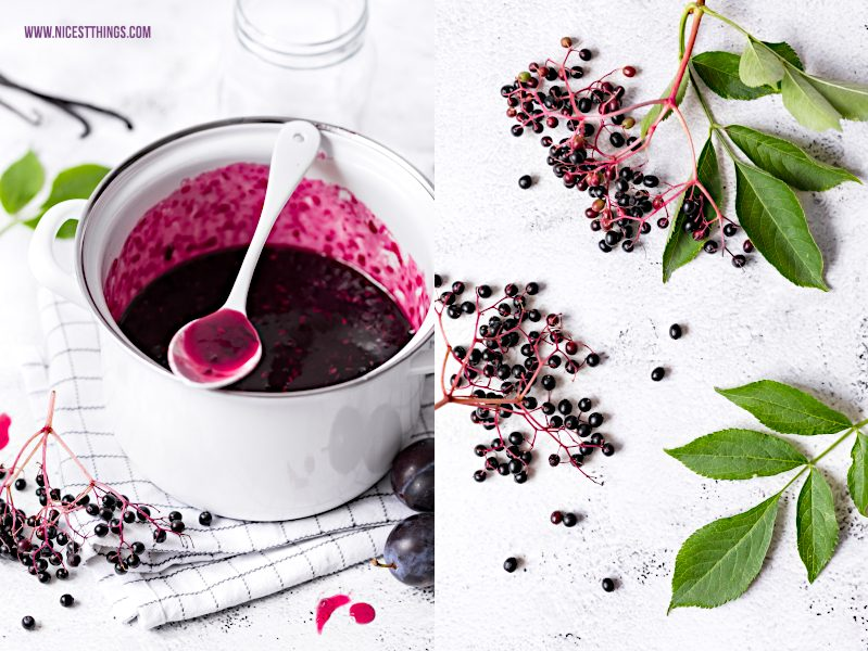 Holunderbeeren Zwetschgen Marmelade Konfituere Rezept