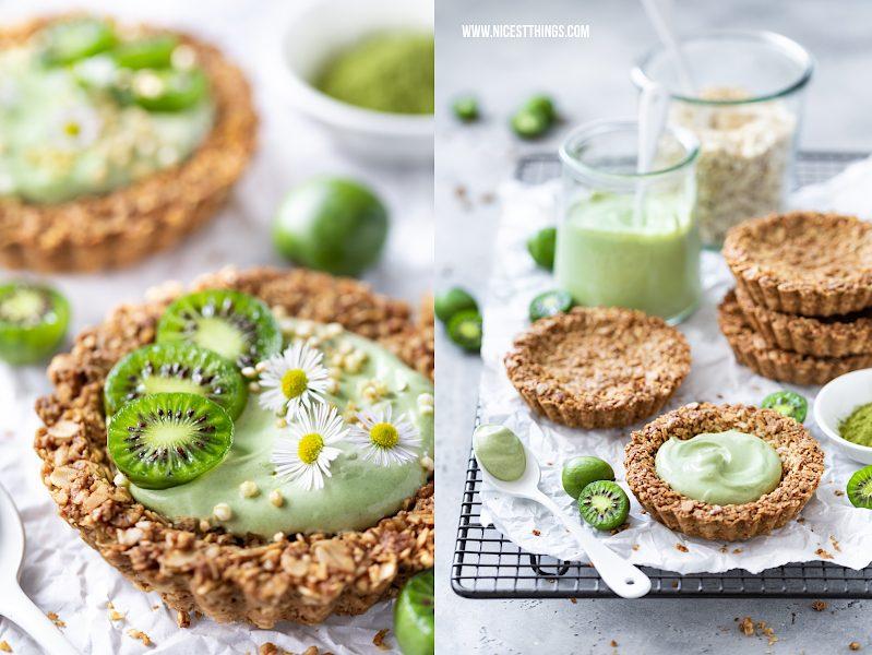 Granola Tartelettes mit Mini Kiwi und Matcha Frühstücks Rezept
