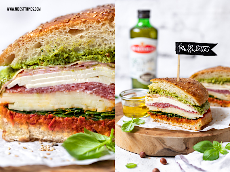 Muffuletta Rezept mit Bertolli Olivenöl