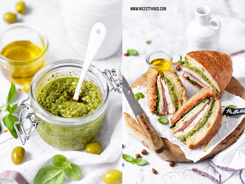 Olivenpesto Rezept Muffuletta Sandwich