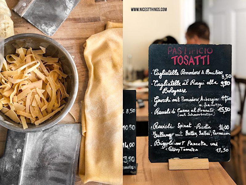 Pastificio Tosatti Berlin handgemachte Pasta Restaurant italienisch