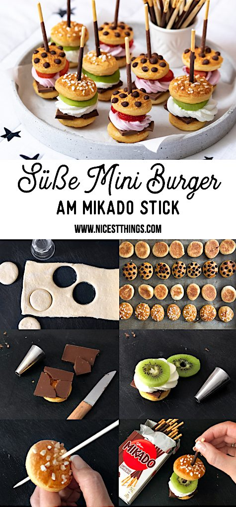 Suesse Mini Burger Rezept Mikado Spiess Schokolade #mikado #burger #miniburger #suesseburger #schokolade